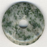 Tree agate donut. 25mm. Pkg of 1. B4-aga189(e)