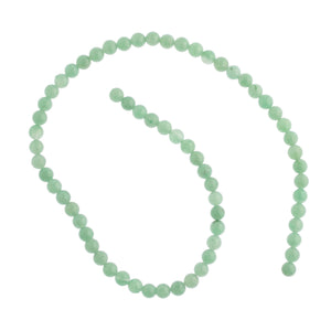 Vintage natural green aventurine 6mm round beads in 16 inch strands. B4-ave214