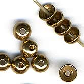 B9-0802 Brass beadcap. 4mm Pkg. of 20