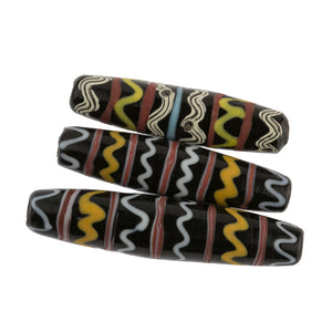 One of a kind group of 3 handmade beads from Java-b11-mi-2069