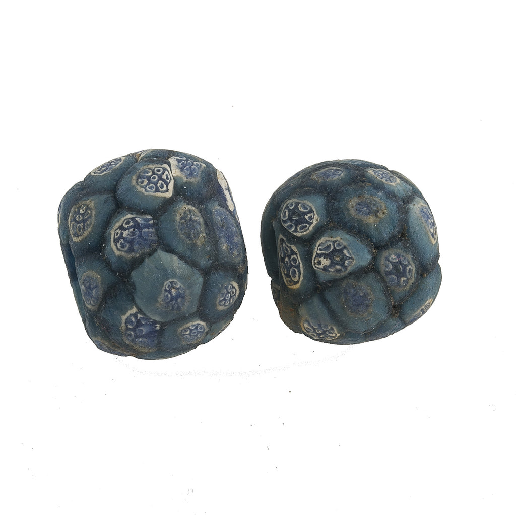 Ancient Indonesian Jatim bead replicas.  Average 18mm. Sold individually. b1-907