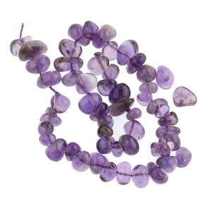 Vintage natural amethyst freeform nugget beads 5x9mm.  9 inch strand. b4-ame193