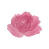 Vintage Japanese Cherry Brand molded translucent glass rose in rose quartz. 27x20mm. Pkg of 1. b5-509d