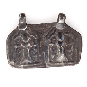 antique silver temple shape plaque amulet from Rajasthan,  pdet118