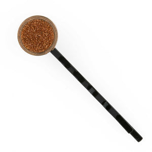 Rolled gold and goldstone turn of the century cuff link repurposed into a hair pin. ac-h0150e