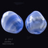 Vintage German blue and white satin glass beads. 15x15x18mm. Pkg of 5. B11-BL-0477(e)