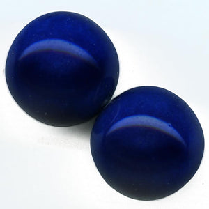 b11-bl-1101-1920s Cobalt blue 16mm rounds. France. Package of 2