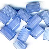 Satin Glass Tubes Light Blue. 4x6mm. Pkg of 10. B11-BL-0502