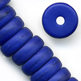 b11-bl-0892-Czech matte glass cobalt blue flat disk, 8mm pkg of 20
