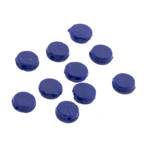 Antique Bohemian cobalt blue flat glass sequin or nailhead bead. 7mm. Pkg of 25. b11-bl-0947