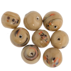 Vintage handmade Japanese rounds. Slight variation in size. Pkg of 20. b11-br-0721(e)