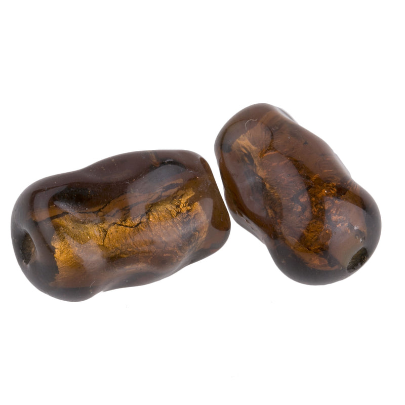 Vintage Japanese fancy amber foils.15x10mm. Pkg of 2. b11-br-0739(e)