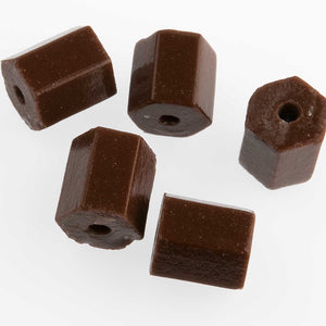 Vintage Czech Brown Pentagon Beads. 10mm. Pkg of 5. B11-BR-0334(e)