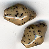 Vintage Czech glass speckled irregular bicone.1x8mm. Pkg of 5. b11-br-0707(e)
