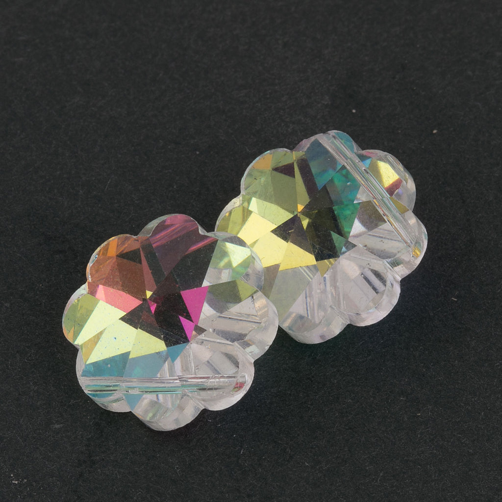 Austrian Crystal Aurora Boreale Pendant Bead. 14mm Pkg of 1. B11-CR-0221