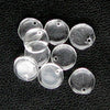 b11-cr-0505-Vintage clear glass flat disk pendants. 7x2mm. Pkg of 50.