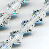 b11-cr-0524-Vintage Czech tin-cut 5mm crystal bicones. Pkg. of 60
