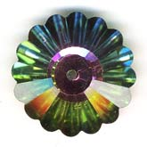 Vintage Swarovski 10mm margarita in vitrail medium II. Article 3701. Sold individually. b11-cr-0460-1
