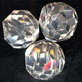 b11-cr-0469-Vintage austrian crystal faceted rounds. 8mm. Pkg of 6