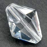 Vintage Swarovski crystal diamond bicone art 5121. 15x12mm. Pkg of 1. b11-cr-0500(e)