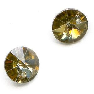 Comet OR (24k gold coating) Swarovski Rivoli Article 6200. 6mm pkg of 2. b11-cr-0544(e)