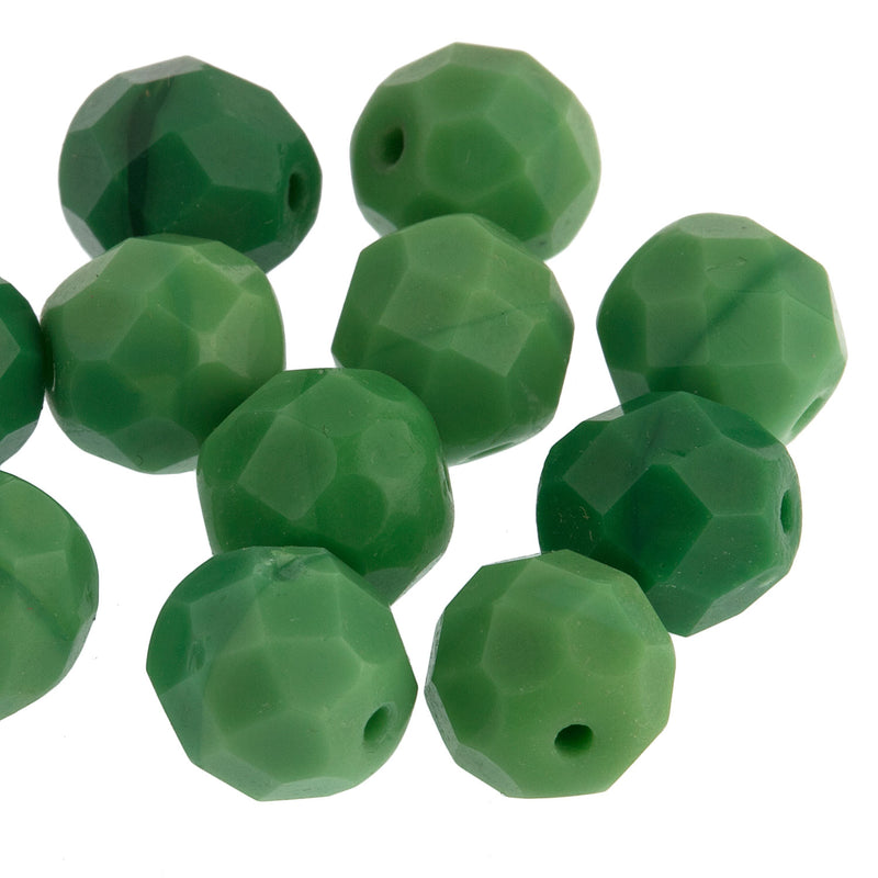 Vintage Prosser Beads Faceted. 8mm. Pkg of 10. B11-GR-0687(e)