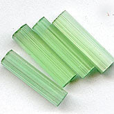 b11-gr-0913-Vintage apple green satin matte pentagon bead. 20x5mm. Pkg of 10