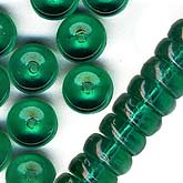 Emerald Green Disk Spacers. 2x6mm. Pkg of 25. B11-GR-0686(e)