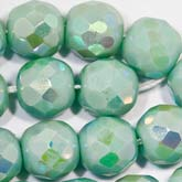 Vintage faceted AB round Germany. 8mm. Pkg of 4. b11-gr-0927(e)