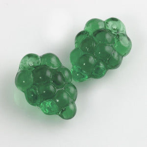 Czech Glass Grape Cluster Pendant Beads.16x11mm. Pkg. of 5 olive. B11-MI-0004-1(e)