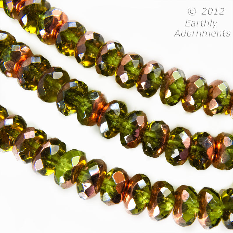 Contemporary Czech gemstone cut mixed strand of 25 pcs. 4x6mm. b11-mi-1175