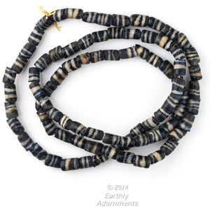 "Old African krobo powder glass trade beads. 32"" strand. b11-mi-2018(e)"