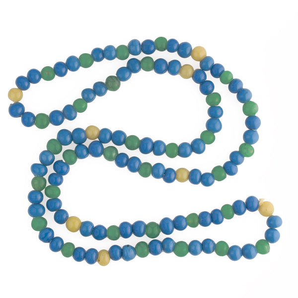 Antique Peking glass bead strand, 9-10mm, 36