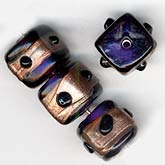 b11-pp-0758 Vintage Indian Amethyst Cube Beads. 10mm. Pkg of 1