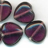 b11-pp-0786-15mm purple hearts. 15mm. Pkg of 4