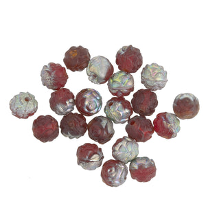 Red vitrail matte rosebuds. 5mm. Pkg of 10. b11-rd-0587(e)