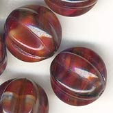 Czech cranberry-like melons. 10mm. b11-rd-0495-2