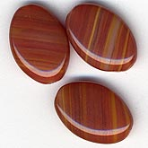 Czech faux gemstone flat glass oval. 16 x 11mm. Pkg. of 6. b11-rd-0590