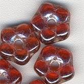 b11-rd-0646-Czech ruby luster 5mm Daisy Lochrosen. 5x1.5mm. Pkg of 25