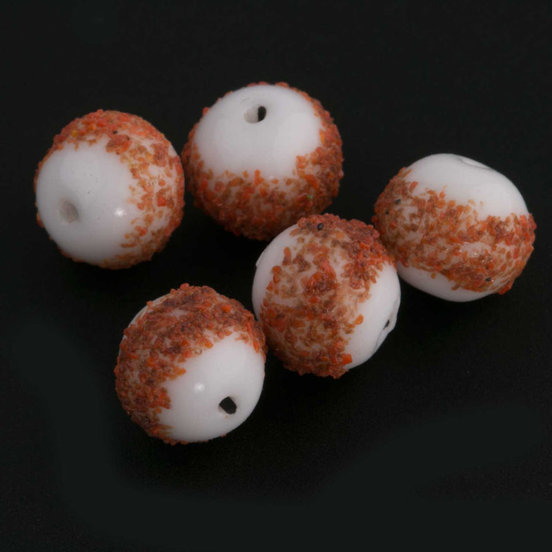 Vintage German sugar beads, 8mm. Pkg of 5. B11-YO-0328-1