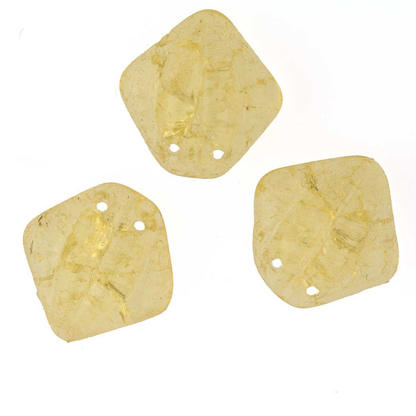 Antique Bohemian citrine glass sew-on or nailhead beads. 10mm. Pkg of 10. B11-YO-0358(e)
