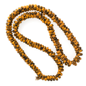 "Antique Venetian flattened ""Zen"" beads, African trade 25.5 inch strand. b11-yo-1015cs"