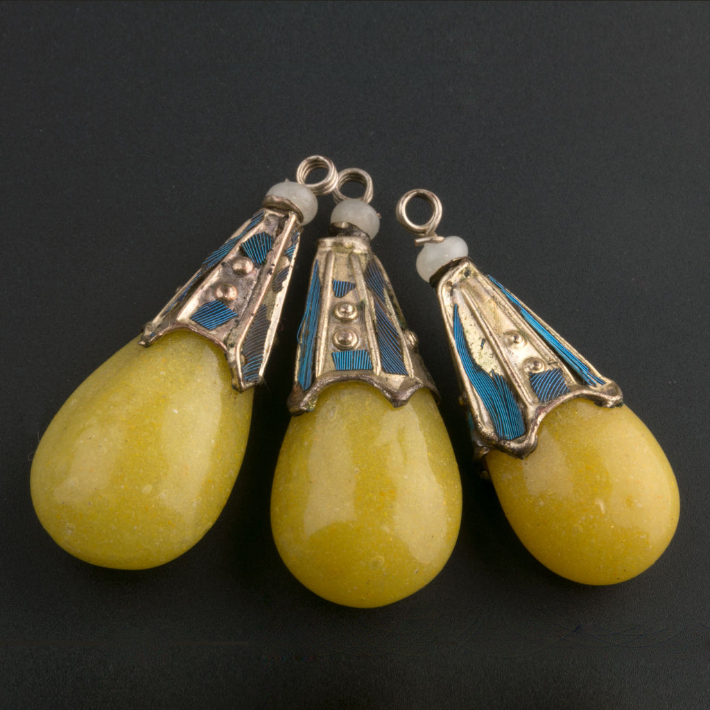 Antique Chinese glass Mandarin court necklace counterweight pendants. Sold individually. Rare. b11-yo-1022