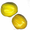 B11-YO-0526 Vintage Czech Molded Rounds. 15x12mm. Pkg of 4