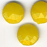 b11-yo-0823-Antique Bohemian opaque yellow nailhead beads. 6mm. Pkg of 25