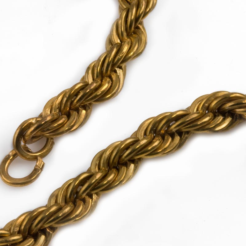 50 pcs f2980 vintage raw brass fold over chain ends 8mm wide w 3mm opening