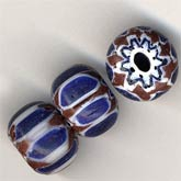 b1-561-Contemporary Chinese chevron beads, 6x10mm, pkg of 4