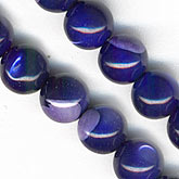 Vintage violet mother of pearl rounds. Pkg of 10. b15-mop102