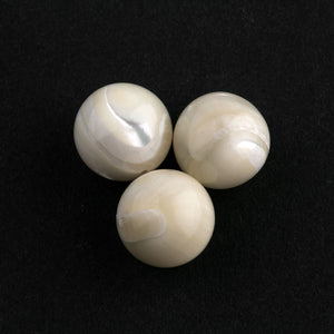 Natural mother of pearl rounds, 12mm.  Pkg of 4.  b15-mop132
