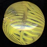 Vintage Venetian lampwork Clear with opaque zebra stripes, 13mm, sold individually. b1-605